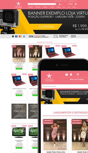Layout de loja virtual